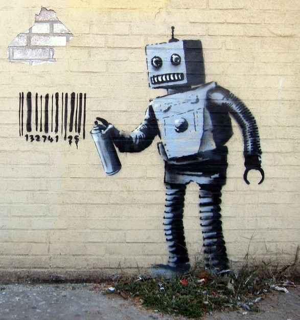 robot-banksy small